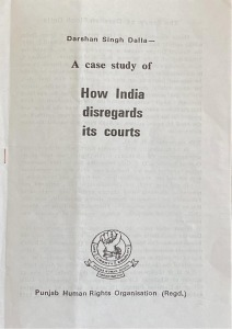 How India disregards it's courts