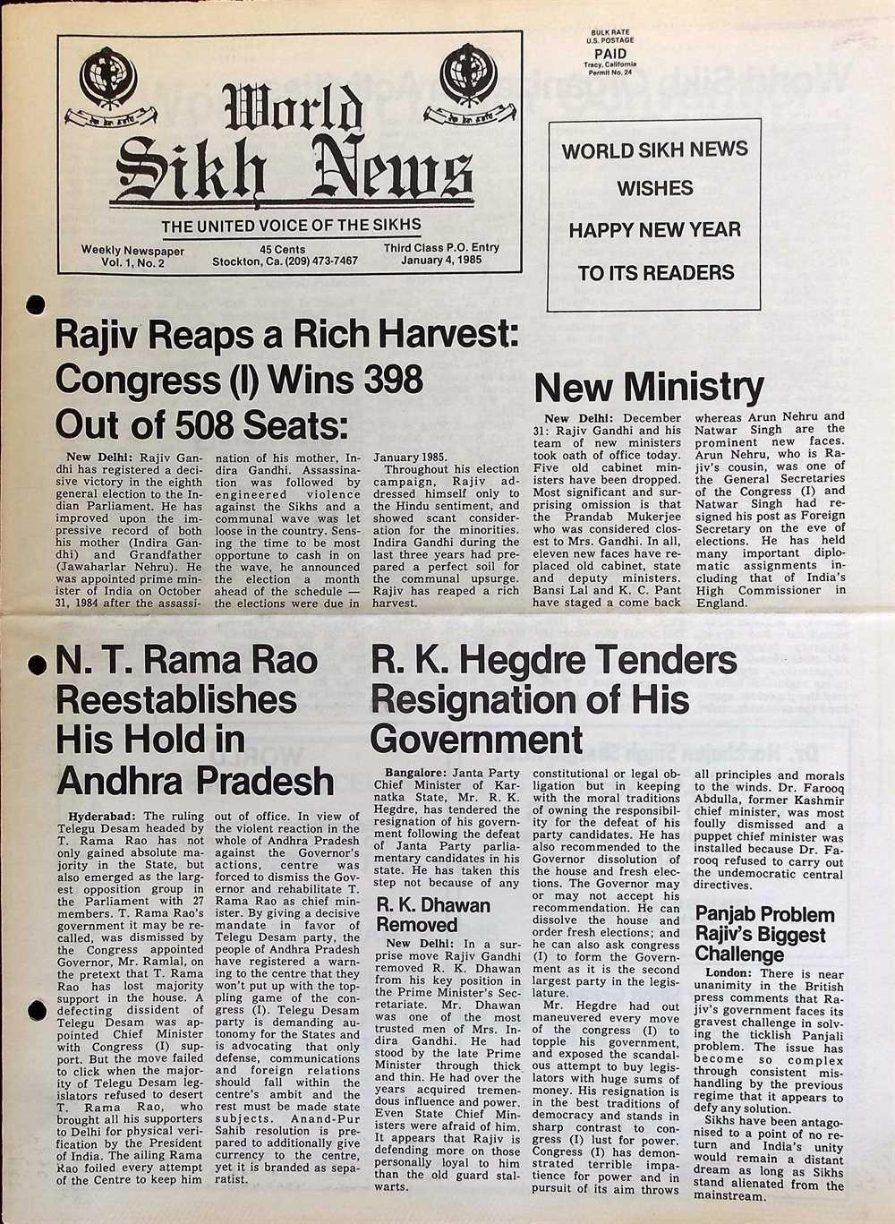 JANUARY 4, 1985