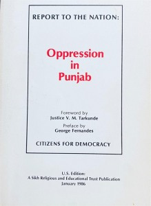 Oppression in PunjabBanned in India