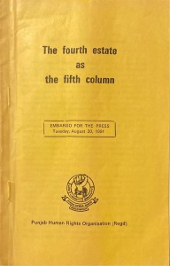 The Fourth Estate as the fifth column